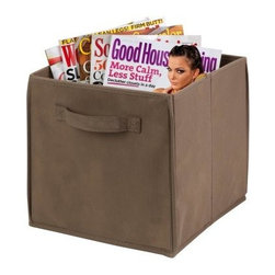 Honey Can Do Taupe Non-Woven Foldable Cube - 4 Pack - No matter how neat your house is, let's face it - there's always a place you could use a little more storage. Enter the Honey Can Do Taupe Non-Woven Foldable Cube - 4 Pack. Crafted with durable polyester fabric, each of the four included bins boasts two built-in handles for easy transport, a flat-fold design for tidy storage when not in use, and a soft taupe hue that goes in any room.About Honey-Can-DoHeadquartered in Chicago, Honey-Can-Do is dedicated to helping you organize your life. They understand that you need storage solutions that are stylish and affordable at the same time. Honey-Can-Do focuses on current design trends and colors to create products that fit your decor tastes while simultaneously concentrating on exceptional quality. When buying a Honey-Can-Do product, you can be sure you are purchasing a piece that has met safety control standards and social compliance methods.