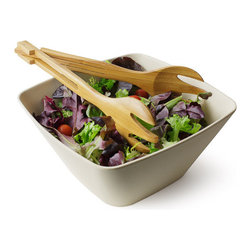 Bamboo Studio - Bamboo Studio 120 oz. Malibu Serving Bowl - Our reusable Bambooware product  is a revolutionary dishware that's eco,friendly, biodegradable, beautiful, and durable. The process begins by taking the fiber of bamboo plants five years or olderand grinding it into a fine powder.