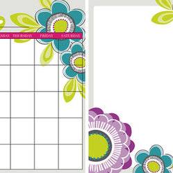 "WallPops - Poppy Dry-Erase Board/Calendar Combo Wall Decal - The Poppy Flower Dry-Erase Board and Calendar is the perfect pair to keep you organized in style. This dreamy set allows you to arrange the calendar and message board wherever you want, even in separate spaces. Keep track of dates, write notes, or draw cute pictures on this dry-erase set, it is easy to wash off and start anew. Pink, purple, and blue poppies in bold colors make your plans pretty. The calendar and message board are each 13"" x 13""."