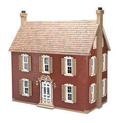 Greenleaf - Greenleaf Willow Dollhouse Kit - 1 Inch Scale - 9305 - Shop for Dollhouses and Dollhouse Furnishings from Hayneedle.com! Simple yet stately the Greenleaf Willow Dollhouse Kit - 1 Inch Scale makes a perfect gift for the hobbyist who appreciates traditional things. Six spacious rooms will house a wide variety of miniatures allowing for endless decorating possibilities while the kit comes complete with fireplaces and bookcases already installed. An ornate front door with delicate trim and double-hung shuttered windows complete the timelessly elegant appeal paying homage to Colonial architecture to create a piece sure to be cherished for years. This dollhouse comes unassembled; approximate assembly time is 30 hours. It also comes unfinished and ready to paint. Paint not included. About GreenleafEstablished in 1947 Greenleaf Steel Rule Die Corp is a leading manufacturer of all-wood dollhouse kits furnishings and accessories. Located in Schenevus N.Y. Greenleaf is acknowledged by many in the miniatures industry for its outstanding design and superior quality. Greenleaf wooden dollhouse kits are an ideal project for collectors or families who want to create lasting keepsakes.
