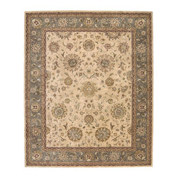 Nourison - Nourison Nourison 2000 2258 (Beige) 2' x 3' Rug - Nourison's most popular hand-made signature collection features Persian and European designs of pure New Zealand wool, highlighted with intricately detailed designs of genuine pure silk. Offered in a wide assortment of shape and size options, including elegant rounds, high fashion ovals and rectangles - all, of course, in addition to a full assortment of standard room sizes and runners. Specially developed hand tufting techniques create a high-density pile that redefines luxury, beauty and value for handmade carpets.