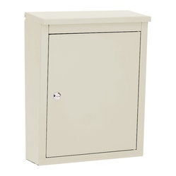 Architectural Mailboxes - Soho Locking Wall Mount Mailbox Sand - Loss prevention. This discreet wall mount mailbox guards your everyday mail as well as larger mail bundles, magazines, catalogs and soft packages inside a spacious and sturdy locked compartment.