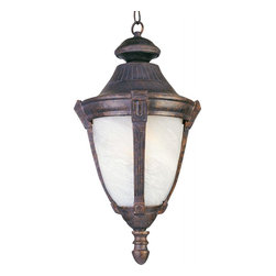 Joshua Marshal - One Light Empire Bronze Marble Glass Hanging Lantern - One Light Empire Bronze Marble Glass Hanging Lantern