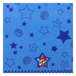 Franco Manufacturing Company INC - Super Mario Towel Flying Stars Beach Accessory - FEATURES: