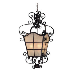 Jeremiah Lighting - Seville Iron LaGrange 6 Light Foyer Lantern Pendant - Jeremiah Lighting 25836-SI 4 Light La Grange Foyer Light, Seville Iron This product from Jeremiah Lighting has a seville iron finish. It is available with