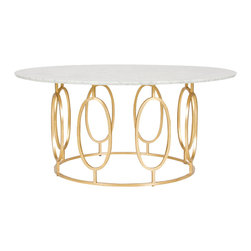 Worlds Away - Worlds Away Gold Leaf Ovals Coffee Table  CALEB GW - Worlds Away Gold Leaf Ovals Coffee TableCALEB GW