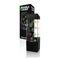 Marble Lamp - The Marble Lamp is a unique lamp that is sure to catch the attention of everyone in the room! Grow your own marbles and make them a part of a fantastic show! The liquid-like marbles will act and then react, colliding into each other and rebounding around the lamp.