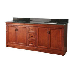 "Foremost - Foremost Naples 72 Vanity Combo with Granite Top and Two Undermount Sinks - Foremost NACAT7222D Naples 72"" Vanity Combo with Granite Top & Two Undermount Sinks, Warm Cinnamon"