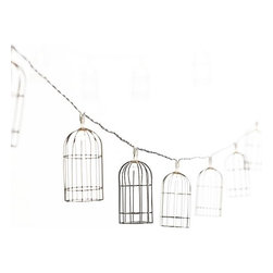 Cage String Lights - These cage lights are the perfect whimsical accent for an outdoor setting. Light them up while getting the bonfire going and enjoy the ambience.