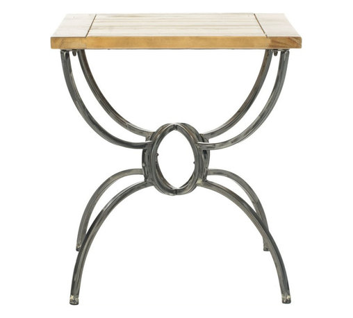 Safavieh - Safavieh Alvin Fir Wood End Table - Safavieh - End Tables - AMH4125A - The Alvin side table blends the classic lines of vintage Empire style and chic Belgian rustic charm. Crafted of natural fir Wood and iron with a reclaimed look its a perfect addition to any contemporary interior.