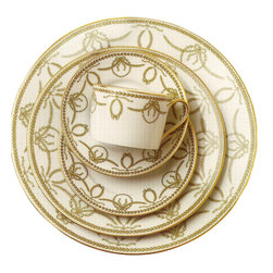 IMPERIAL COURT, INC. - Royal Palace Green 5-Pps - Limoges porcelain dinnerware decorated with 24k gold.  Dinnerware patterns are sold as five-piece placesetting as well as open stock.  Serving pieces are also available.