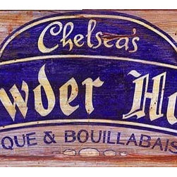Red Horse Signs - Vintage Signs helsea's Chowder House - Give  your  favorite  cook  their  own  shingle  to  hang  out  with  this  vintage  customizable  sign.  Just  change  the  proprietor's  name  for  a  winning  gift  sure  to  please.  Measuring  11x32  inches  this  sign  is  printed  directly  to  distressed  wood  for  a  weathered  finish  and  time  worn  appeal.