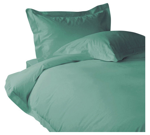 300 TC Duvet Cover with 1 Flat Sheet Striped Aqua Blue, Full - You are buying 1 Duvet Cover (88 x 88 inches) and 1 Flat Sheet (81 x 96 inches) only.