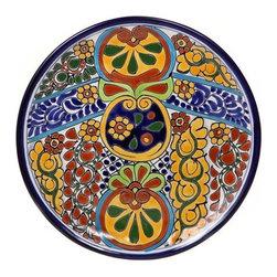 "Mexican Talavera - Mexican Talavera 12"" Decorative Plate, Design A - Mexican Talavera Decorative Plate - 12"""
