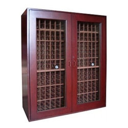 Vinotemp - VINO-SONOMA500-DC Sonoma 500-Bottle Capacity Wine Cooler Cabinet  Cherry Wood  D - Vinotemp introduces the Sonoma Series its newest line of attractive high-quality cold storage solutions for your wines Each Sonoma wine cellar boasts a sturdy cherry wood construction complemented by hidden hinges and a special lock that enhance its ...