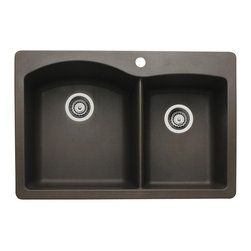 Blanco - Blanco Cafe Brown Sink - Name the shape. Name the application. The DIAMOND collection has you covered. Every detail has been considered from the greater bowl capacity to the easy-to-clean surface, which resists scratches and stains.