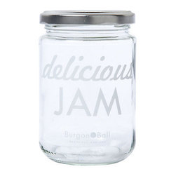 Printed Jam Jar - For the cook in your life who makes absolutely everything from scratch, this adorable jam jar makes for a very affordable but thoughtful gift.
