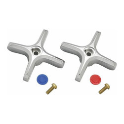 Speakman - Speakman Commander A-CROSS Cross Handle Set Multicolor - A-CROSS - Shop for Bathroom from Hayneedle.com! Replace or swap your current handles for the Speakman Commander A-CROSS Cross Handle Set. This set includes a pair of cross-knob handles with a quarter-turn on/off design to accurately control both flow-pressure and temperature mix. Both handles are constructed from slid brass and are protected from scratches rust and corrosion by a polished chrome finish. All necessary mounting hardware is included. Set is compatible with SC-3084-LD the SC-5724 and the SC-7122 model Commander Centerset Faucets. About Speakman Company Founded in 1869 by brothers Joseph and Allen Speakman the Delaware-based Speakman Company provides plumbing solutions safety equipment and shower products for residential hotel and commercial markets. Now a leader in plumbing fittings and electronic faucets the company s product lines are renowned for their quality innovation and durability.