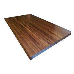 Armani Fine Woodworking - Walnut Butcher Block Countertop - Edge Grain - Armani Fine Woodworking Edge Grain Walnut Butcher Block Countertop