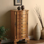 Coaster - Oak Traditional Jewelry Armoire - Deluxe jewelry armoire in a light oak finish. Simple assembly is required.