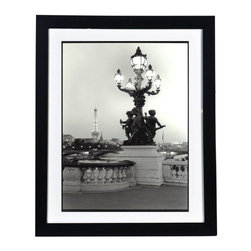 "Framed Original Photograph: Angels Amongst Us - Calling all Parisian lovers! Brought to us from the collection of Bay Area photographer and globetrotter Nancy Manning, this stunning original photograph is sure wake your travel bug. Note from the Seller: ""One of my favorite bridges in Paris. I have this in my living room almost as big as I am and every time I walk by I feel as if I am peering through a window to the bridge."" This image is available in other sizes, both framed and unframed.  Please contact Support for assistance with special orders. Please allow three weeks for this item to ship."