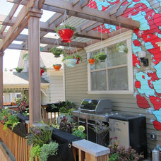 Eclectic Deck Eclectic Patio