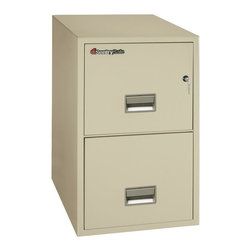 SentrySafe - SentrySafe G3131 Fire Resistant 2 Drawer Legal Filing Cabinet - 2G3131L-CS - Shop for File and Storage Cabinets from Hayneedle.com! The wide SentrySafe G3131 Fire Resistant 2 Drawer Legal Filing Cabinet has survived a 30-foot drop test and features a Medeco high-security lock that protects against picking drilling and other forms of attack. It not only keeps your most important documents organized and secure it safeguards them against the most common office disasters. Solid metal construction and brilliant engineering have made this safe capable of protecting your papers from water and fire damage as well as being completely impact resistant. Two locking storage drawers glide in and out with ease and accommodate legal-and letter-sized hanging folders. The overall dimensions of this unit are 19.6W x 31D x 27.6H inches. Available in your choice of black light gray and putty finish.Shipping OptionsDock-to-Dock Freight ServiceNo additional charge. Dock-to-dock includes commercial freight delivered to a commercial loading dock. Recipient is responsible for unloading product final placement unpack and debris removal. Not available for residential deliveries.Curbside DeliveryDelivery personnel will present goods to ground level at rear of delivery vehicle. Recipient is responsible for final movement of goods unpack and debris removal. Curbside delivery will not bring the item up to a residence.Threshold ServiceDelivery personnel will remove goods from truck and place goods inside first exterior doorway garage or carport. Service includes up to four steps exterior to the first doorway. Customer is responsible for final product placement unpack and debris removal. Inside Delivery ServiceDelivery personnel will remove goods from truck place goods in your room of choice and complete unpack and debris removal. Includes lift gate service and stair carry of 0-4 internal and external steps. Does not include site preparation or protection.About SentrySafeFor over three generations family-owned SentrySafe has been with you protecting your valuables providing you peace of mind. SentrySafe uses rigorous testing standards to ensure your items are protected from fire water and theft. They offer safes in a wide range of sizes and types and continue to innovate protection technology. They are proud to make all of their products right here in the United States. SentrySafe is a name you can trust for all your irreplaceable items.