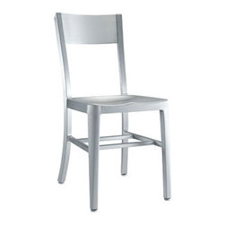 "LexMod - Milan Dining Side Chair in Silver - Milan Dining Side Chair in Silver - Cafe-inspired aluminum design with a timeless appeal. Make yourself a space where time stands still. Set Includes: One - Milan Dining Chair For Outdoor Use, Brushed Aluminum, Lightweight and Sturdy Overall Product Dimensions: 19""L x 15.5""W x 33""H Seat Height: 18""H - Mid Century Modern Furniture."