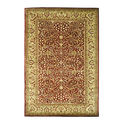 """Safavieh - Persian Legend Maroon/Brown Area Rug PL520A - 9'6"""" x 13'6"""" - Inspired by the legendary designs of Persia's most prestigious rug-weaving capitals, these extraordinary reproductions recreate some of the most prized antiques in Safavieh's archival collection. Intricate Tabriz, Lavar Kerman and Isfahan hand-knotted motifs are remarkably adapted to these hand-tufted rugs of incomparable quality. The finest New Zealand wool is chosen to achieve the intricate weave of these carpets. With utmost attention to every detail, Safavieh creates its Persian Legends Collection in India to provide consumers an exquisite yet affordable artisan-crafted look."""