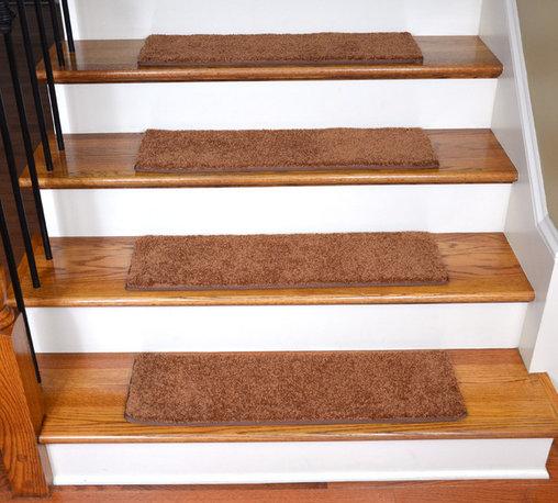 Dean Flooring Company - Dean Non-Slip, Tape Free, Pet Friendly, Carpet Stair Treads - Pumpkin Spice (15) - Quality, Stylish Carpet Stair Treads by Dean Flooring Company.