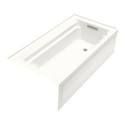 KOHLER - KOHLER K-1124-GRA-0 Archer 6' BubbleMassage Bath with Comfort Depth Design - KOHLER K-1124-GRA-0 Archer 6' BubbleMassage Bath with Comfort Depth Design, Integral Apron and Right-Hand Drain in White