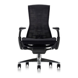 Herman Miller - Herman Miller Embody Work Chair - The first work chair designed specifically to create harmony between your body and your computer. More than just an ergonomic chair, Embody keeps you alert, keeps you aligned, keeps your blood and creative juices flowing.