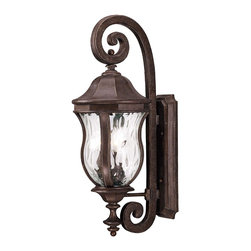Savoy House - Monticello Wall Mount Lantern - A celebrated Savoy House family finished in Walnut Patina with Clear Watered glass
