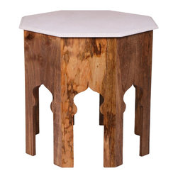 Jamie Young Co. - Jamie Young Co. Large Atlas Side Table in White Marble - Large Atlas Side Table in White Marble by Jamie Young Company.