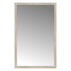 """Posters 2 Prints, LLC - 37"""" x 58"""" Libretto Antique Silver Custom Framed Mirror - 37"""" x 58"""" Custom Framed Mirror made by Posters 2 Prints. Standard glass with unrivaled selection of crafted mirror frames.  Protected with category II safety backing to keep glass fragments together should the mirror be accidentally broken.  Safe arrival guaranteed.  Made in the United States of America"""
