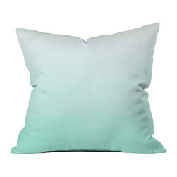 Social Proper Mint Ombre Outdoor Throw Pillow - Do you hear that noise? it's your outdoor area begging for a facelift and what better way to turn up the chic than with our outdoor throw pillow collection? Made from water and mildew proof woven polyester, our indoor/outdoor throw pillow is the perfect way to add some vibrance and character to your boring outdoor furniture while giving the rain a run for its money.