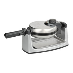 Kalorik - Kalorik Rotary Belgian Waffle Maker - Never suffer through a freezer burnt waffles again with this Kalorik rotating Belgium waffle maker features extra deep waffle pockets to allow for thick Belgian waffles. Adjustable temperature control, brushed stainless steel housing, non-stick plates for easy cleaning. Indicator lights: Power on/off and ready. Rotates for even cooking. Gives you a perfect waffle every time.