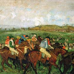 The Gentlemen's Race - Before the Start | Edgar Degas | Canvas Prints - Condition: Unframed Canvas Print