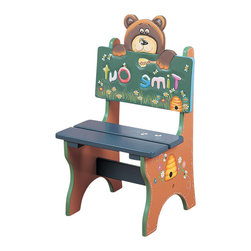 Teamson Design - Teamson Kids Safari Hand Made and Painted Bear Themed Kids Time Out Chair - Teamson Design - Kids Chairs - W5714B. This is a hand made and painted Safari Collection Time Out Chair. It has a bear theme and go great when you need to give your child a time out. Your child might hate time out but will love this chair!
