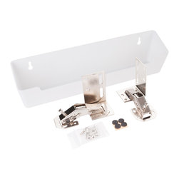 "Hardware Resources - 11-3/4"" Plastic Tipout 2 Tray Set - 11 3/4"" Wide Sink Tipout Tray Pack.  White Plastic.  2"" Deep x 3"" Tall.  Sold per pair.  Two sets of hinges  two trays  and 20pcs screws included."