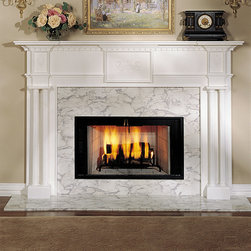 Alexandria Wood Fireplace Mantel - A beautiful wood mantel for any home, the Alexandria is available in both standard and custom sizes and a number of finishes.