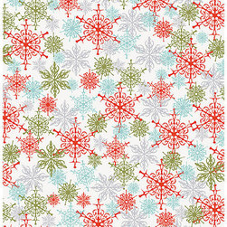 """Urban Snowflakes Wrapping Paper - Here's a relatively timeless wrapping paper pick for your stash. I say it's """"relatively"""" timeless because it screams midcentury modern to me in the best way."""