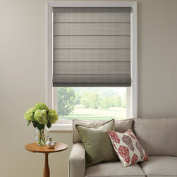 Good Housekeeping™ Roman Shades - Good Housekeeping has created the classic good looks of fabric Roman Shades in two panel styles: the more contemporary flat panel or the hobbled style, with an elegant teardrop-shaped fabric loop.  Choose from several designer fabrics to help you create the perfect soft window shade.  Matching fabric valances are included.  All Good Housekeeping™ Roman Shades are available with cordless operation for child safety.