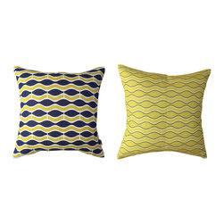 Kaypee Soh - Wave Pillow - Midnight - Another take on ocean ripples venturing the sea make this design a classic-go-with-anything pillow design.