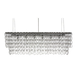 Nuevo Living - Jayden Pendant Lamp, Large - A crystal chandelier unlike any you have ever seen! Hundreds of crystal hooks are attached to a chrome frame to create a truly modern lighting piece. Pick from a small or large size to fit the room of your choice and watch as the light dances from hook to hook.