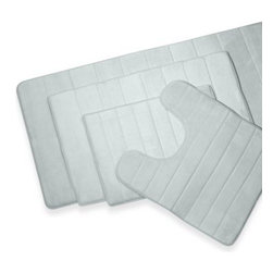 Microdry - MicroDry Ultimate Luxury Memory Foam 17-Inch x 24-Inch Bath Mat - Step out of your tub onto the luxurious comfort of this unique bath mat. The Microdry top fabric is super soft and absorbs water twice as fast as other materials, making it extra gentle and ultra absorbent.