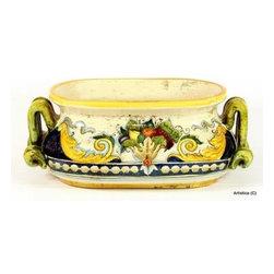 Artistica - Hand Made in Italy - Florentine: Oval Jardiniere Cachepot - Florentine Collection:
