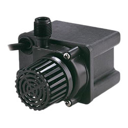 "Little Giant - Little Giant 566612 PE-2.5F-PW Direct-Drive Pond Pump - This pond pump is ideal for use with fountain nozzles, pond ornaments, filters, and circulating ponds up to 400 gallons. It's epoxy filled pump features a compact design, and gives you superior water flow with a corrosion resistant plastic housing. It has a screened intake that prevents debris from entering the pump, and a 1/2"" MNPT discharge that accepts any 3/4"" I.D. tubing."