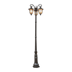 Trans Globe Lighting - 5707 ROB Amber Rain 3 lantern Light Lamp PostThe Standard Collection - New for Autumn, an outdoor collection oil rubbed bronze wall brackets, hanging lanterns, post top lamps, and pole lamps. Many sizes and styles.