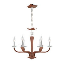 Eurofase Lighting - Eurofase Lighting 22806 Pella 6 Light Chandelier - Eurofase Lighting 22806 Pella 6 Light ChandelierLeather, cut crystals accents, and chrome mounting combine to create this unique chandelier. The top-grain leather is first sanded, then tanned, and finally hand stitched for high quality and perfection. Eurofase Lighting 22806 Features: